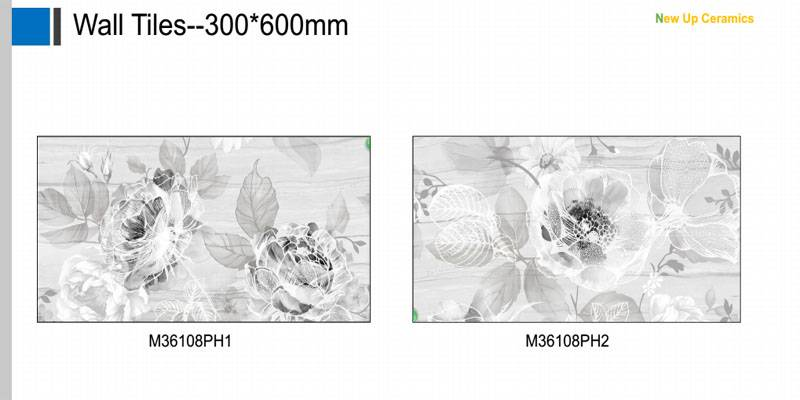 Flower printing polished wall tiles interior used porcelain