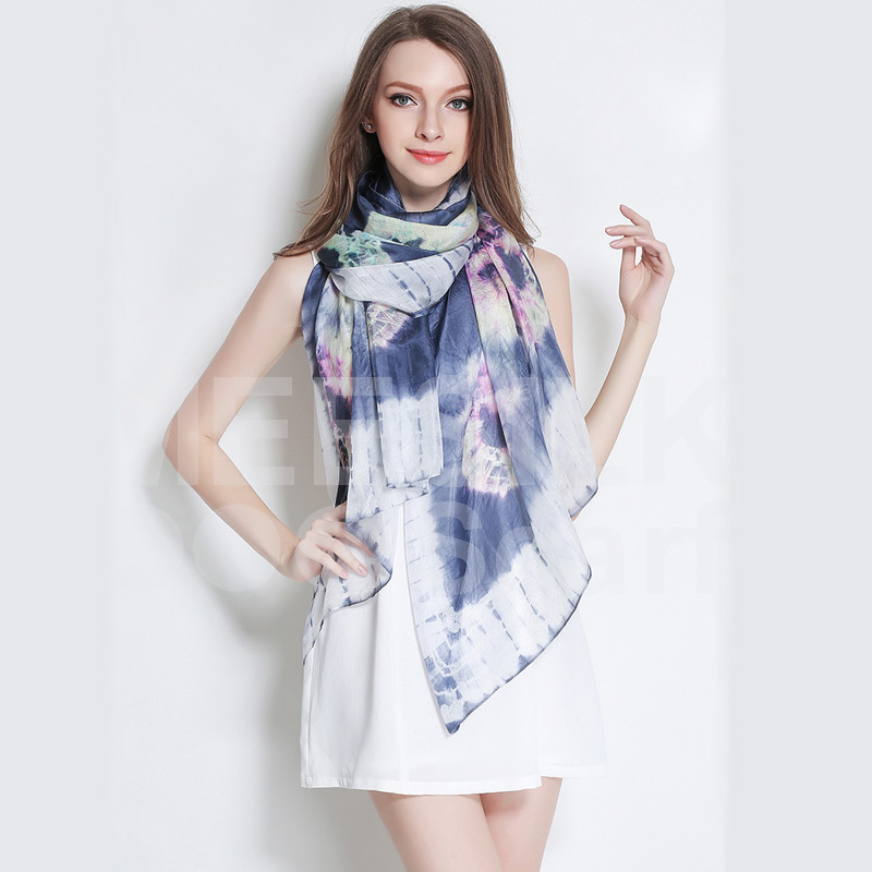 Hot Sell Spring Scarf 100% Silk scarf with Printing Elegant Scarf Top Quality Scarf