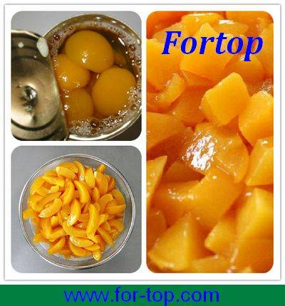 Fresh Canned Yellow Peach In Halves/slices/dices