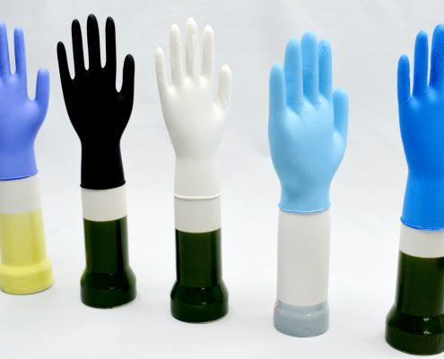Disposable Powdered Nitrile Gloves Powder Free Examination Latex Gloves
