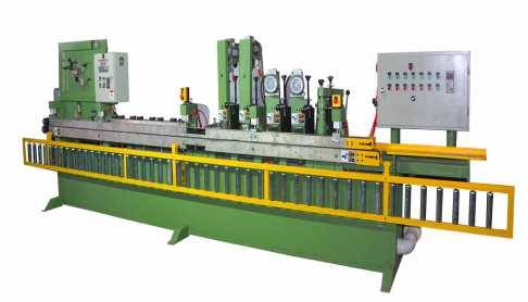 Abrasive sanding belt skiving machine