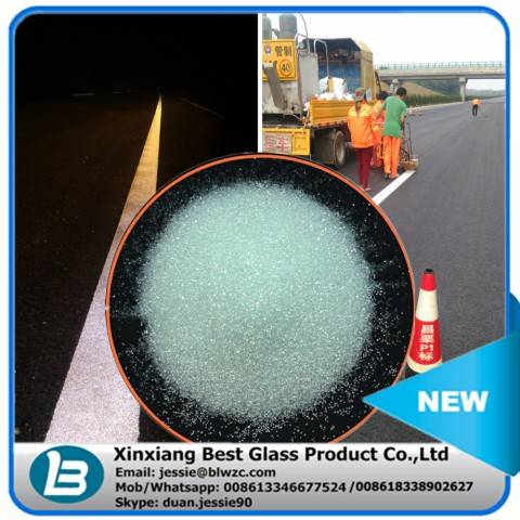 High intensity reflective glass beads microsphere for road marking paint
