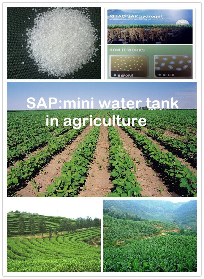 Super absorbent polymer(SAP) for agriculture use as water retention agent