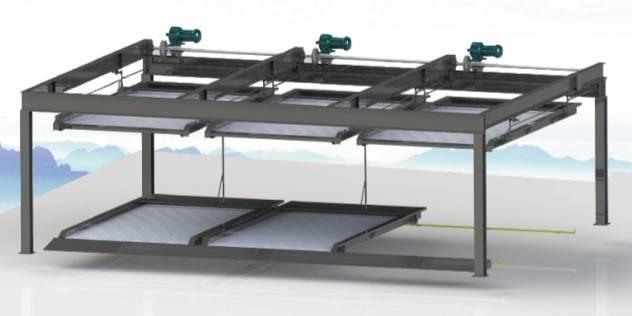 2-layer Vertical-horizonal parking system PSH-2