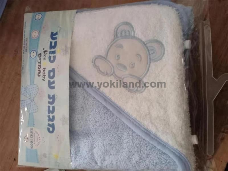 YKT7056 100% cotton baby hooded towel