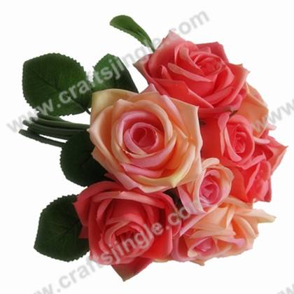 High-quality romantic rose bouquet artificial flower for decoration