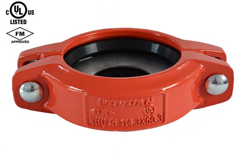 Ductile Iron Reducing Flexible Coupling with FM and UL Approved