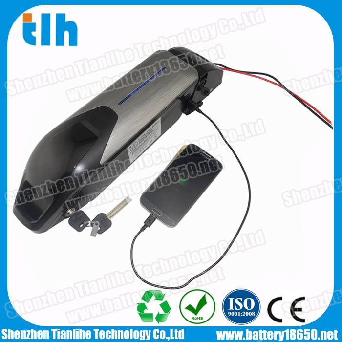 48V 11.6Ah Downtube Electric bike lithium battery with Samsung or Panasonic cells
