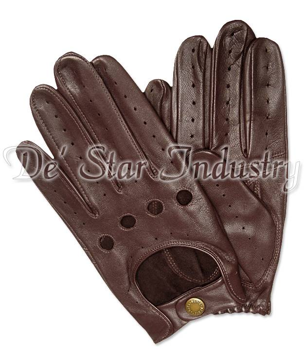 Men Car Driving Leather Gloves