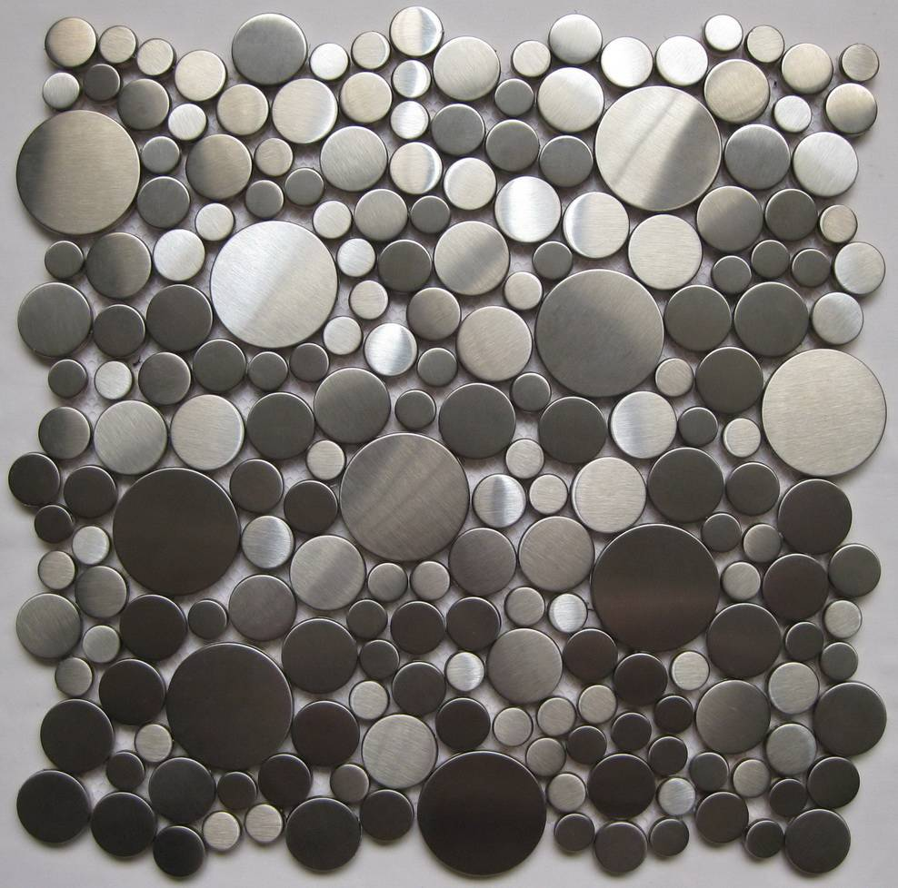 Pebble Stainless steel mosaic