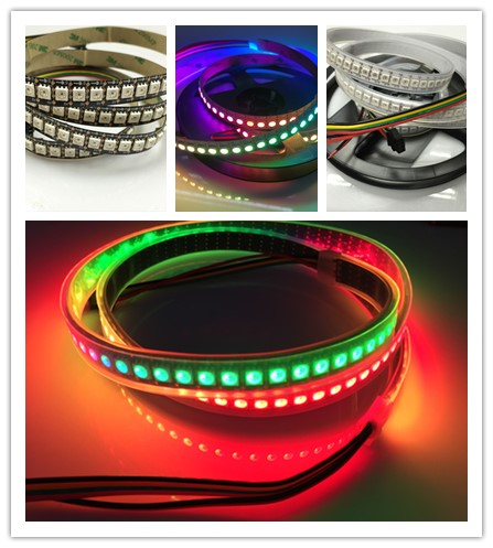 High Quality DC5V White/Black PCB Apa102 LED Strip 144LEDs (option apa LED strip 30/32/48/60/72LEDs