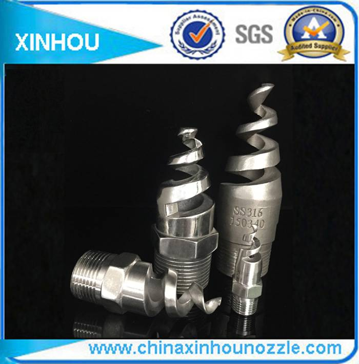 Gas cooling spray cleaning nozzle Spiral spray nozzle