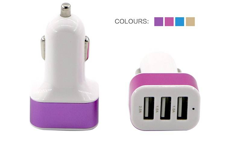 Promotional Customized 3 usb car mobile charger
