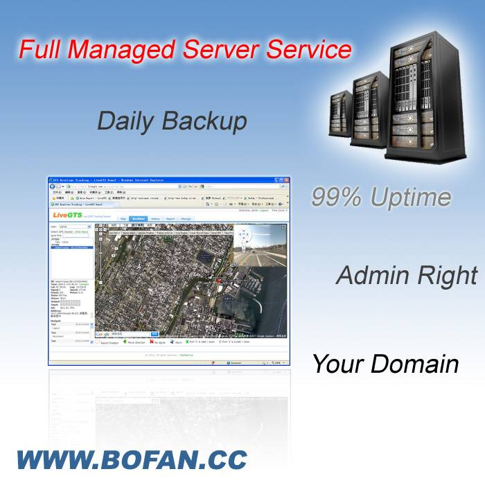 Full Managed Server Service for GPS tracking business