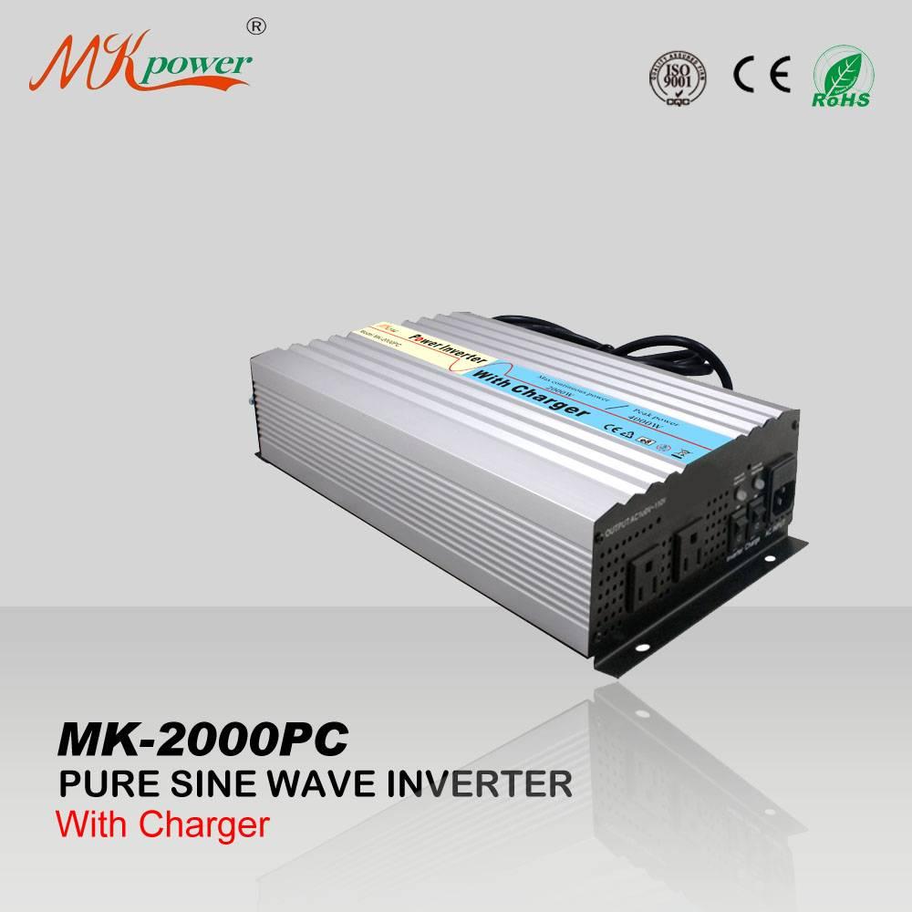 Pure sine wave inverter with charger 12v 220v 2000w
