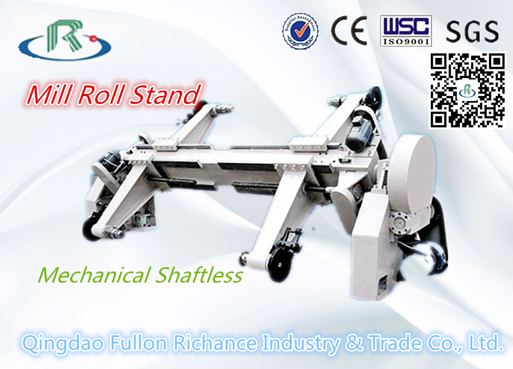 Corrugated Cardboard Making Machine Mechanical Shaftless Mill Roll Stand
