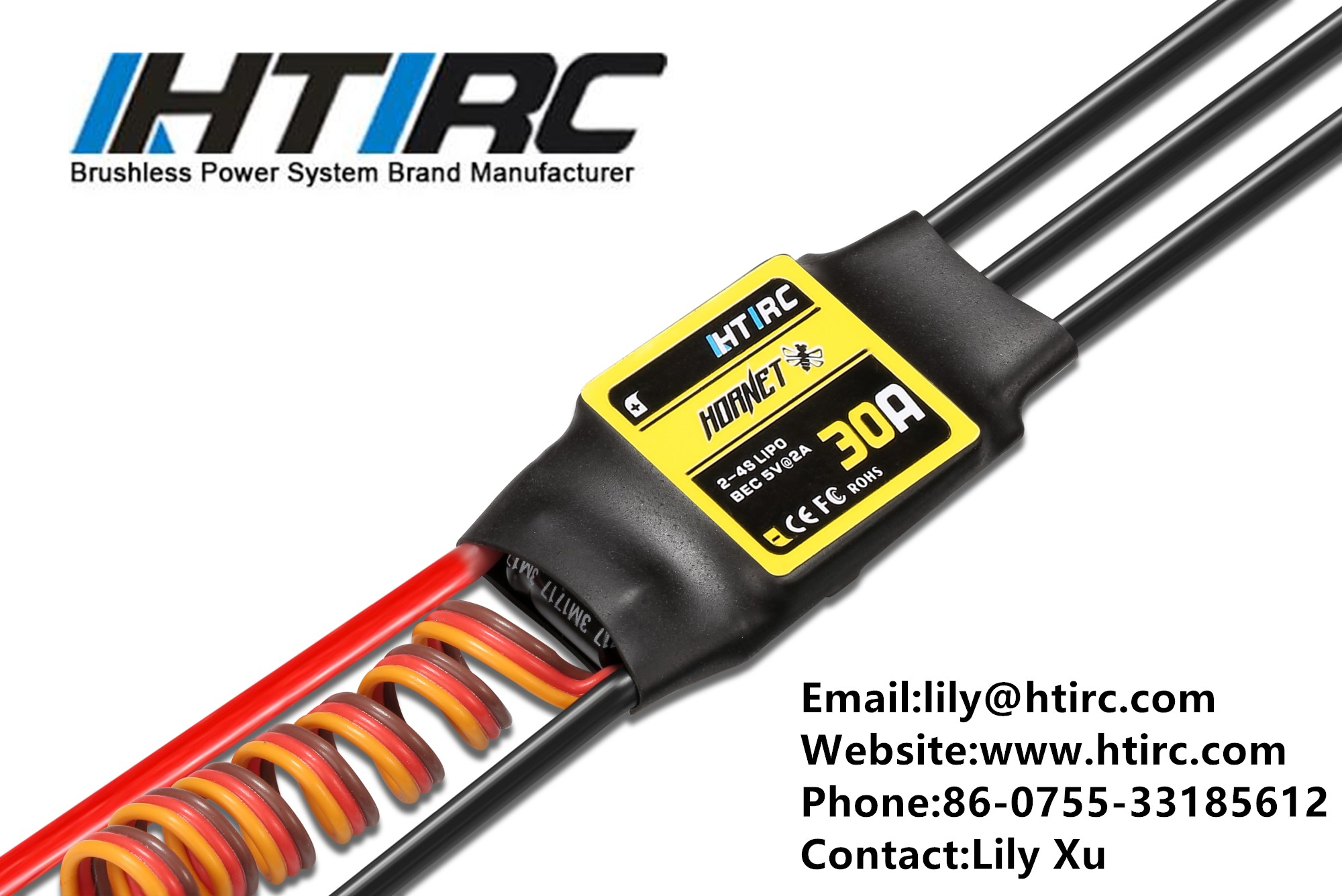 HTIRC Hornet 30A Brushless esc Speed Controller ESC For Rc Hobby Model Airplane