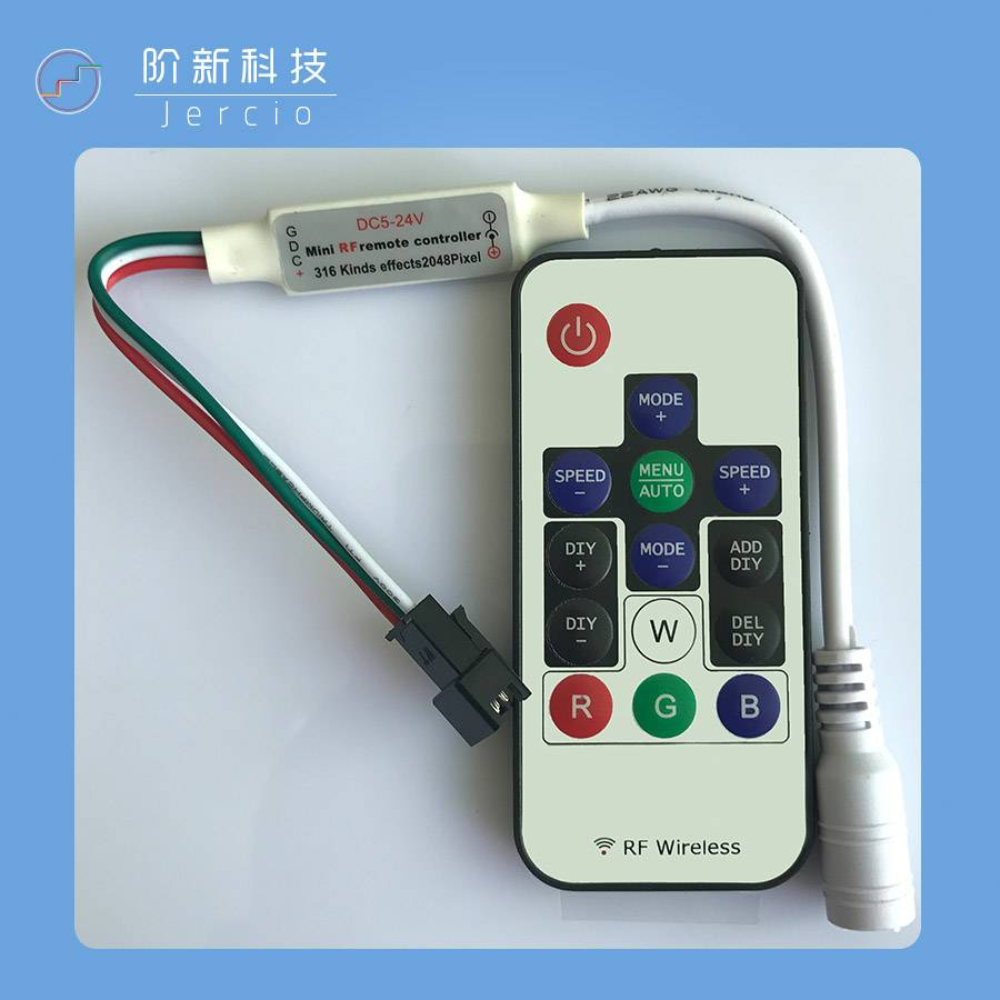 7 key controller SK6812 WS2811 or APA102
