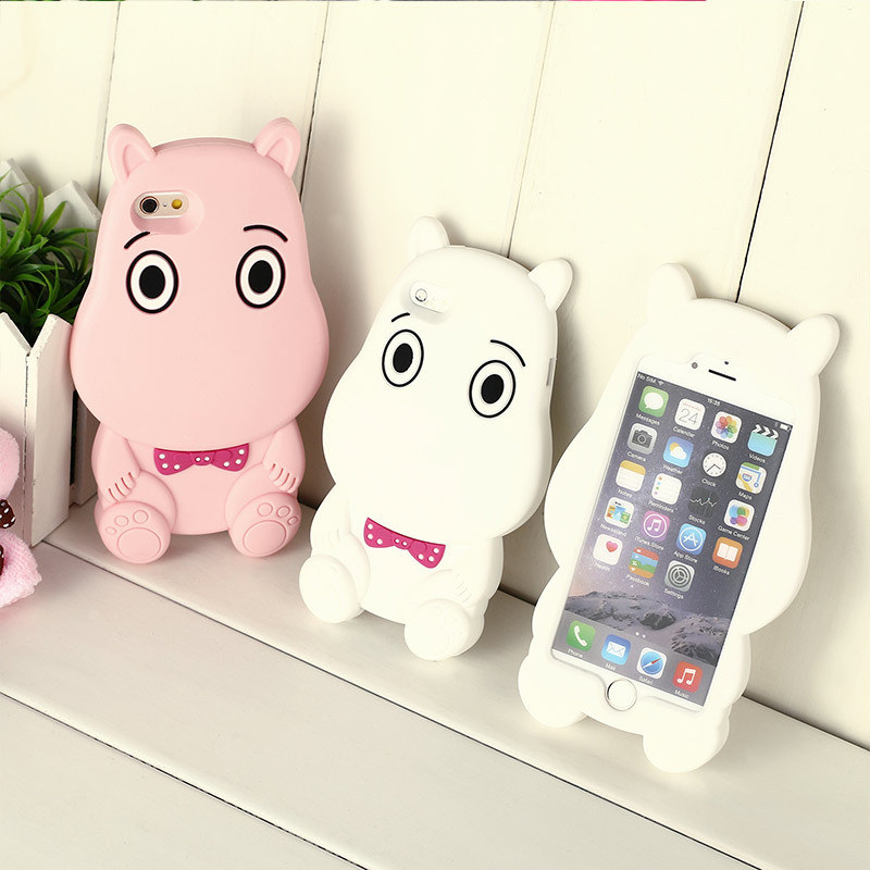 Soft Cartoon Cute Cow Silicone Case for iPhone 6s/7/8 Plus Xiaomi Shockproof