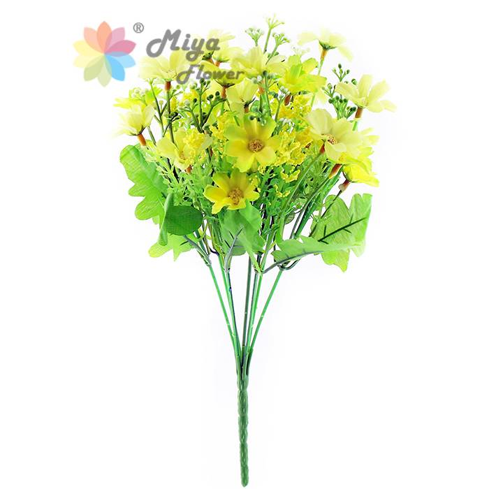 7 branches decorative artificial silk flower Dancing Daisy
