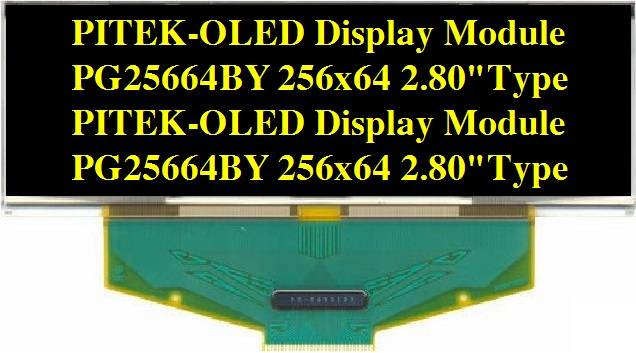 Graphic OLED Display Module PG25664BY/B