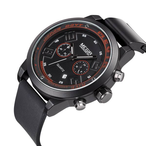 Lasted best 6 hands silicon sportive men watch brand your own Megir watches cheap chronograph watche