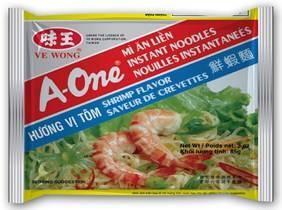 Shrimp instant noodles
