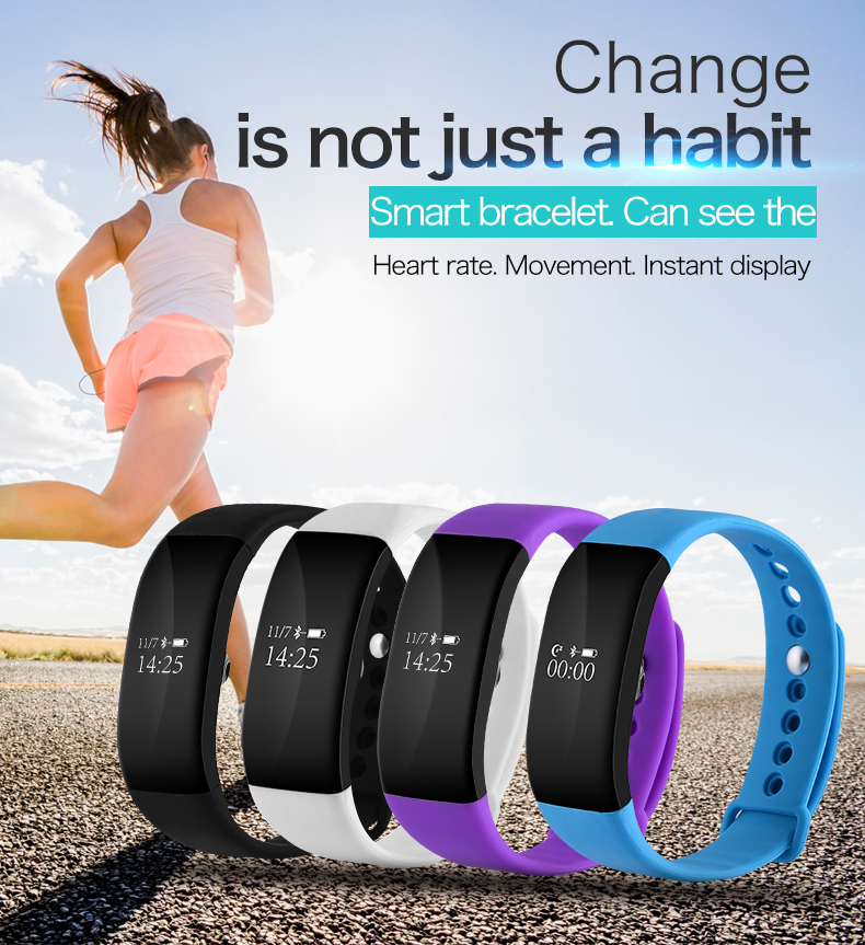 V66 Smart Bracelet Watch Touch Screen Bluetooth Heart Rate Monitor Waterproof
