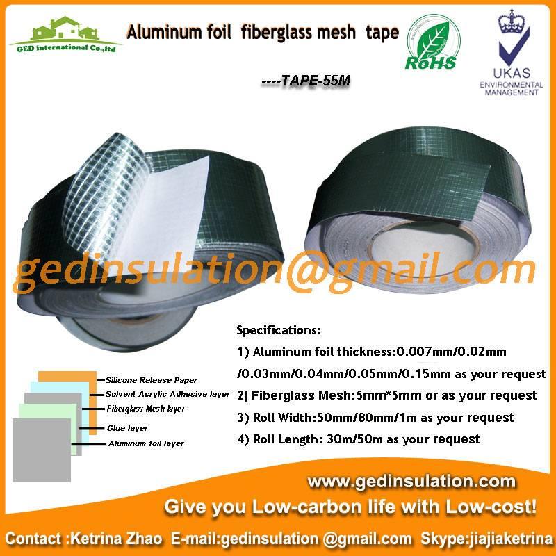 Aluminum foil fiberglass mesh tape pipeline insulation foil tape