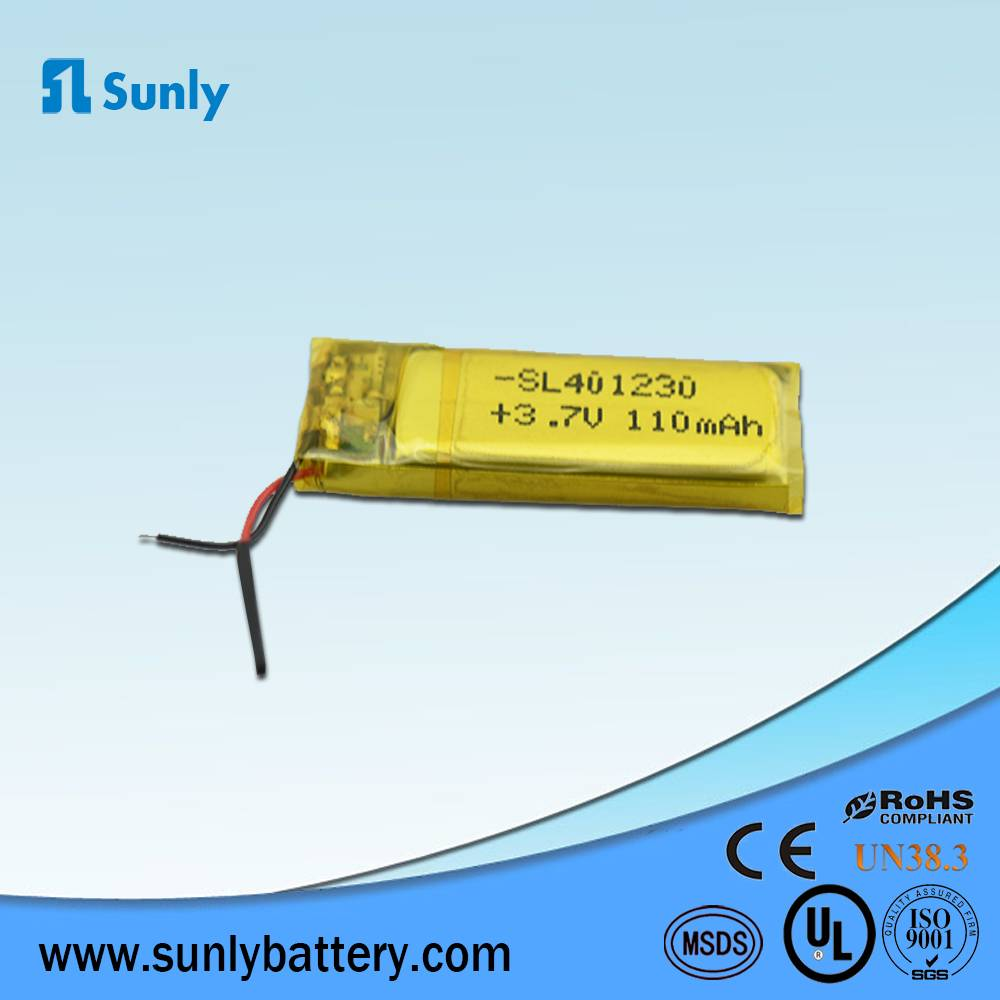 lithium ion battery 3.7V 110mAh li-ion battery pack
