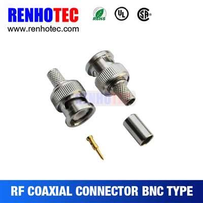 Crimp BNC PLUG Connector For Cable RG58/59
