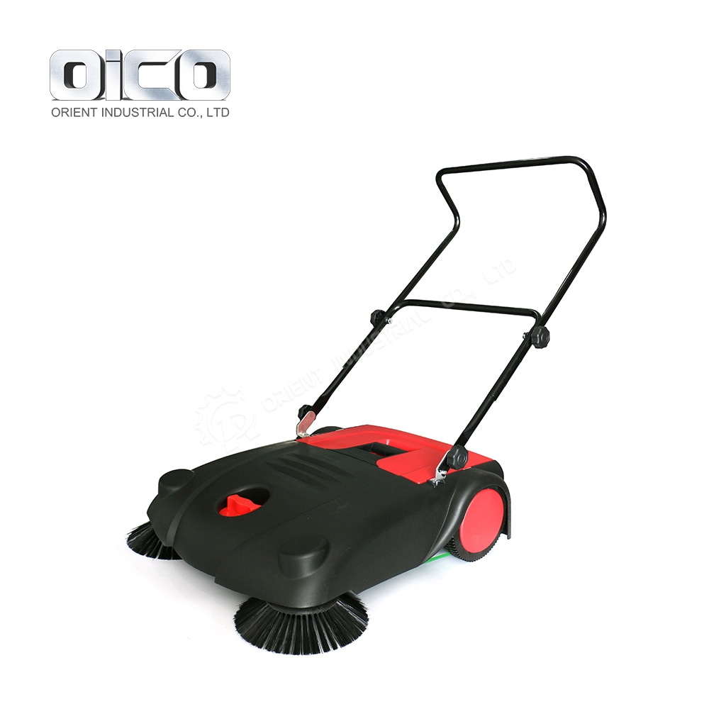 Cheap Price Mini Size Manual Floor Cleaning Road Sweeper With Dual Brushes