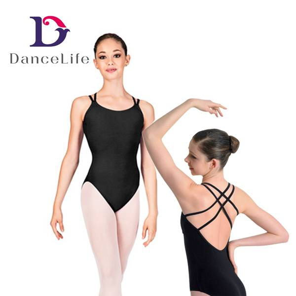 Dancewear with Double Straps, Crisscross Back, for Ballet Dancing