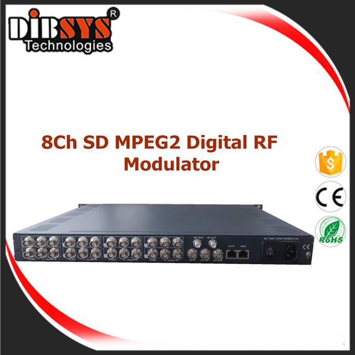 Broadcast 8 MPEG2 Digital Video Modulator
