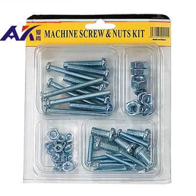 50PCS Small Machine Screws with Nuts Assortment