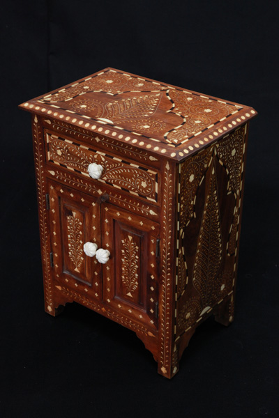 Bone Inlay Bedside Cabinet