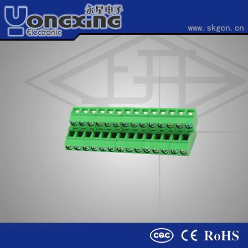 Hot sale 7.50mm 16Amp 400V AC Euro Type quick connect terminal block
