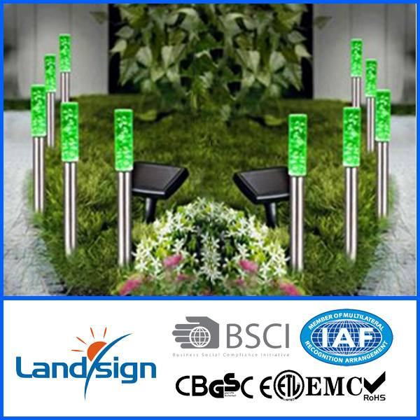 Solar powered bubble column lights for garden decoration