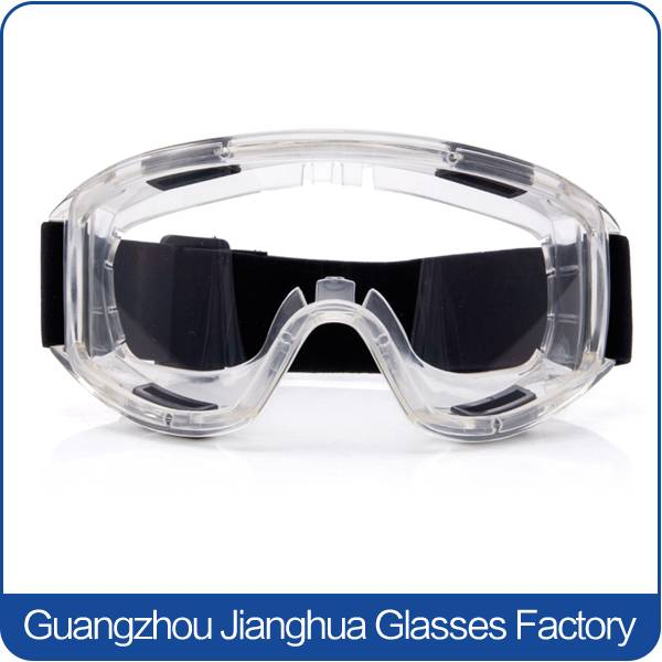 trendy clear lens eye protective goggles safety working glasses with strap