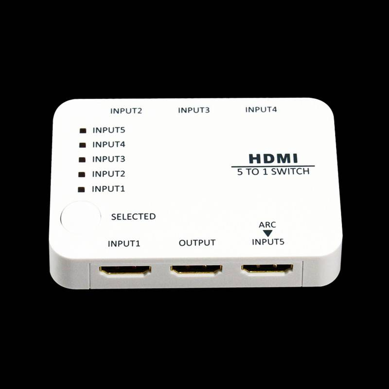 Mini 5 port HDMI Switch 5 in 1 HDMI Swithcher HDMI Swithches HDMI 1.4 full support HDTV 3D 4K suppor