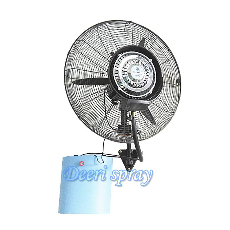 Deeri Economical wall mounted water spraying fan low cost from factory direct supply