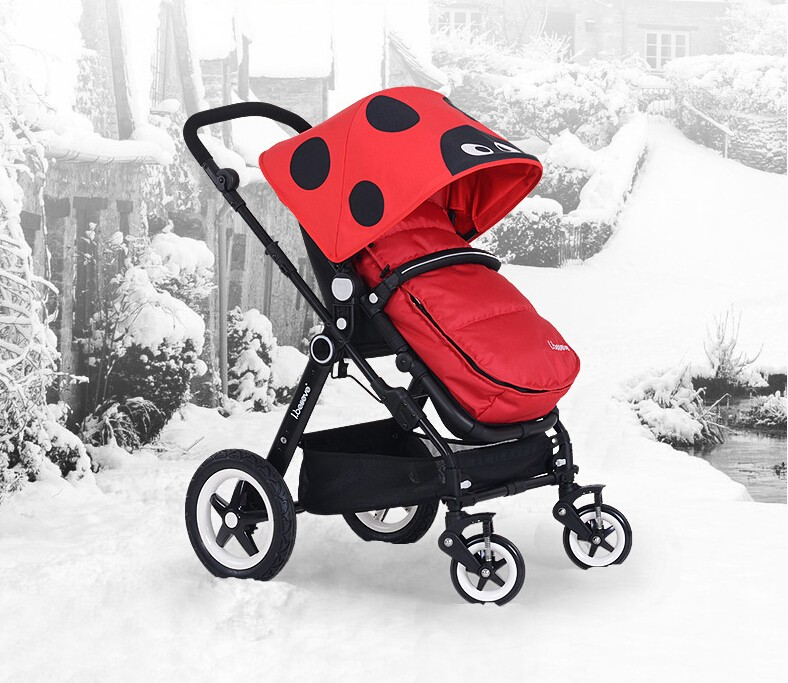 Factory Direst EN1888 New Design Foldable Stroller with Removable Foot Muff and Cotton Cushion