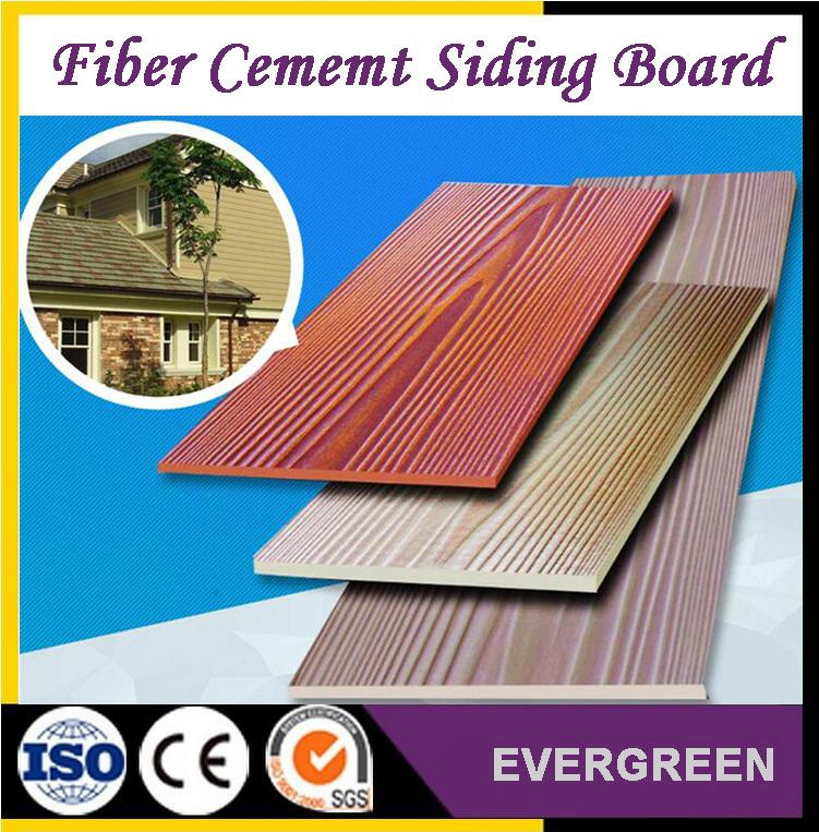 Wood grain siding board