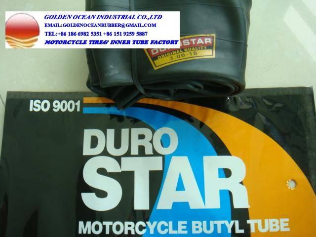 Duro Star Motorcycle inner tube Butyl rubber 300-17 300-18 for Kenya Market