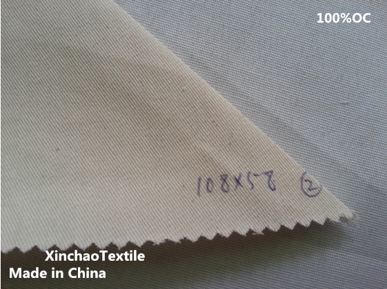 China factory OC 21S21S,10858 Organic cotton Twill Fabric