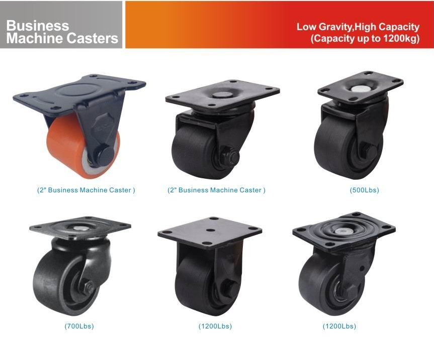 Business machine casters