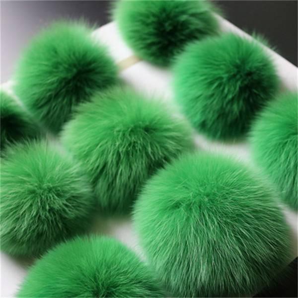 10cm Fox Fur Pom Pom Ball