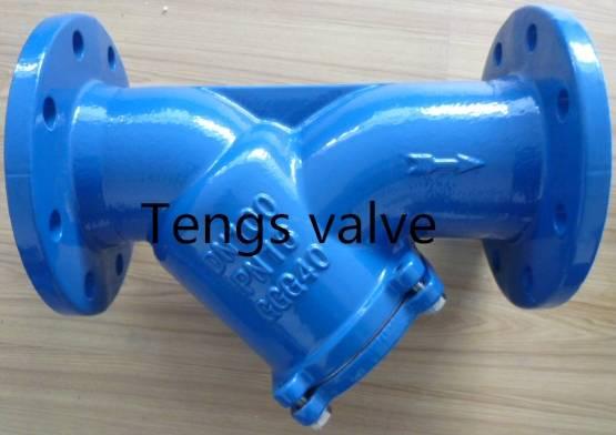 Cast iron DIN standard y type strainer