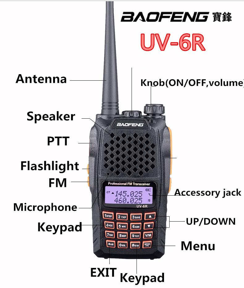 Handy Two Way Radio Baofeng UV-6R