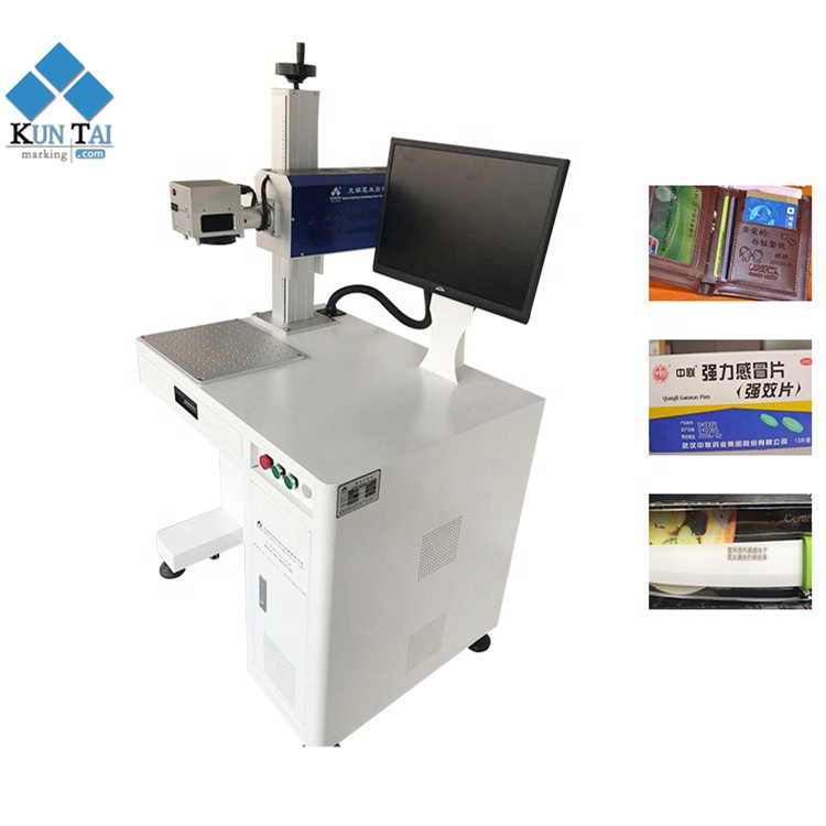 15W/30W CO2 laser machine marking engraving machinery for wooden plastic bag